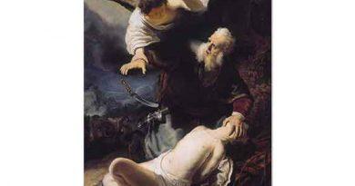 Rembrandt Ibrahim Ishak'ı Kurban Ederken