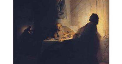Rembrandt Isa ve Emmaus'ta Yemek