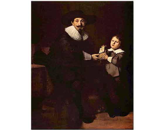 Rembrandt Jean Pellicorne ve Oğlunun Portresi