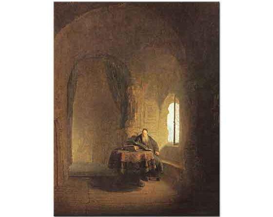 Rembrandt Kitap Okuyan Filozof