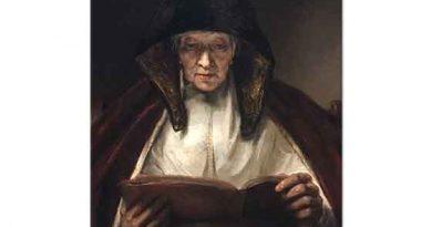 Rembrandt Kitap Okuyan Yaşlı Kadın