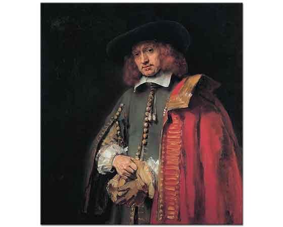 Rembrandt Kıyafetli Portre Jan Six