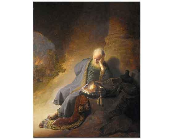 Rembrandt Kudüs'ün Harap Edilmesine Üzülen Jeremiah