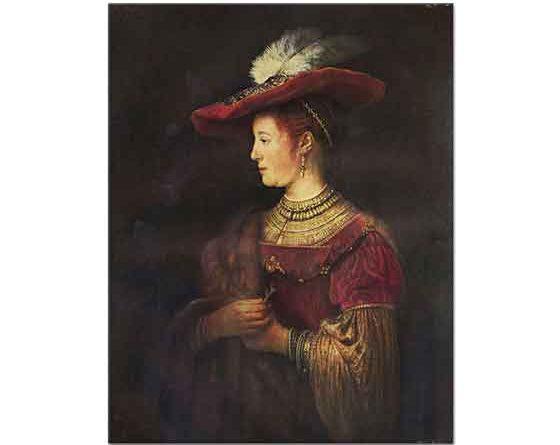 Rembrandt Şatafatlı Kıyafetler içinde Saskia