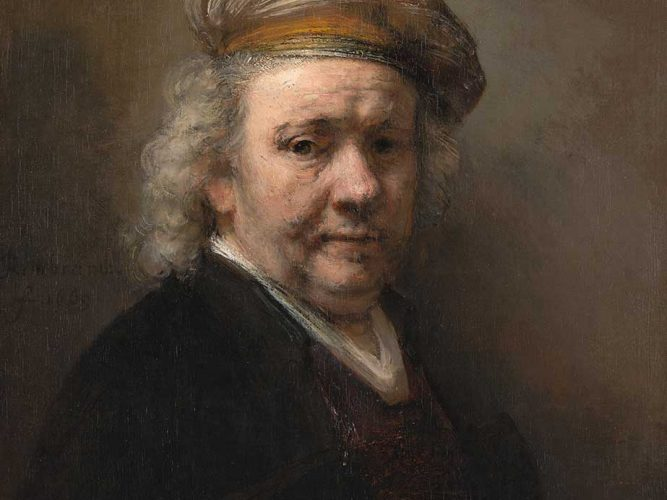 Rembrandt Yaşlı iken Kendi Portresi