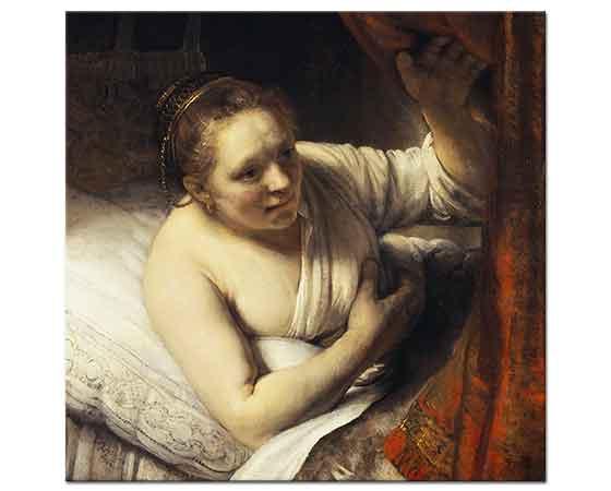 Rembrandt Yataktaki Kadın