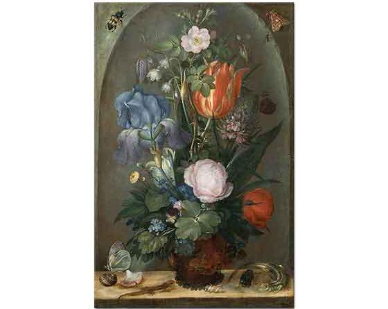 Roelant Savery Vazoda Çiçekler