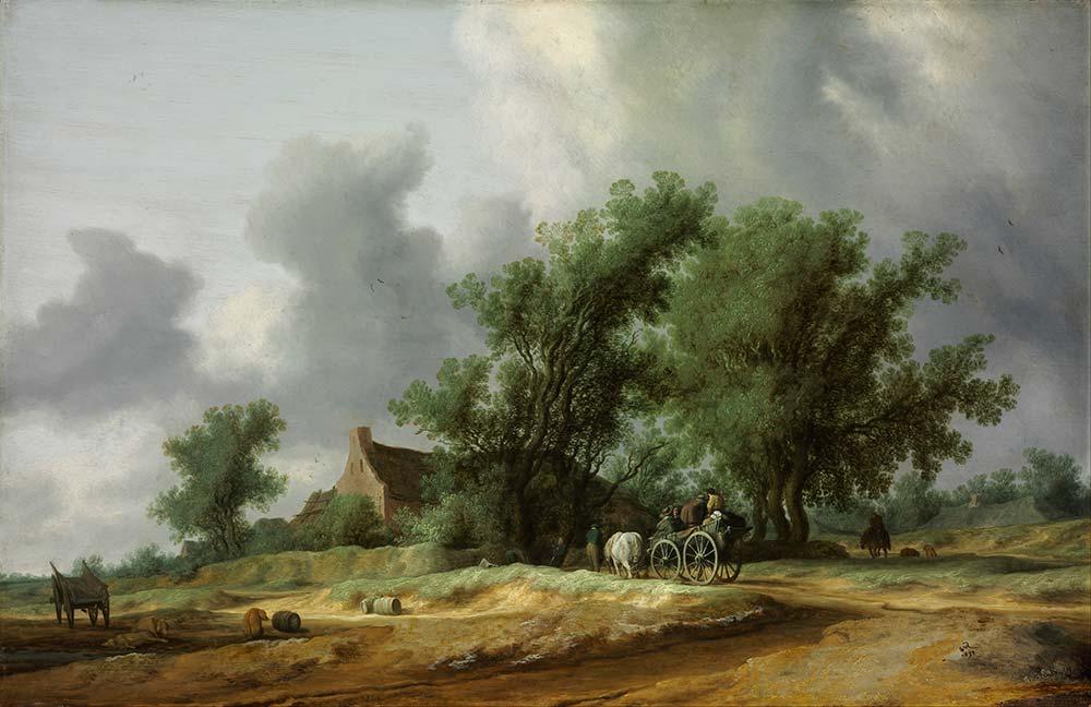 Salomon van Ruysdael Toprak Yol ve Araba