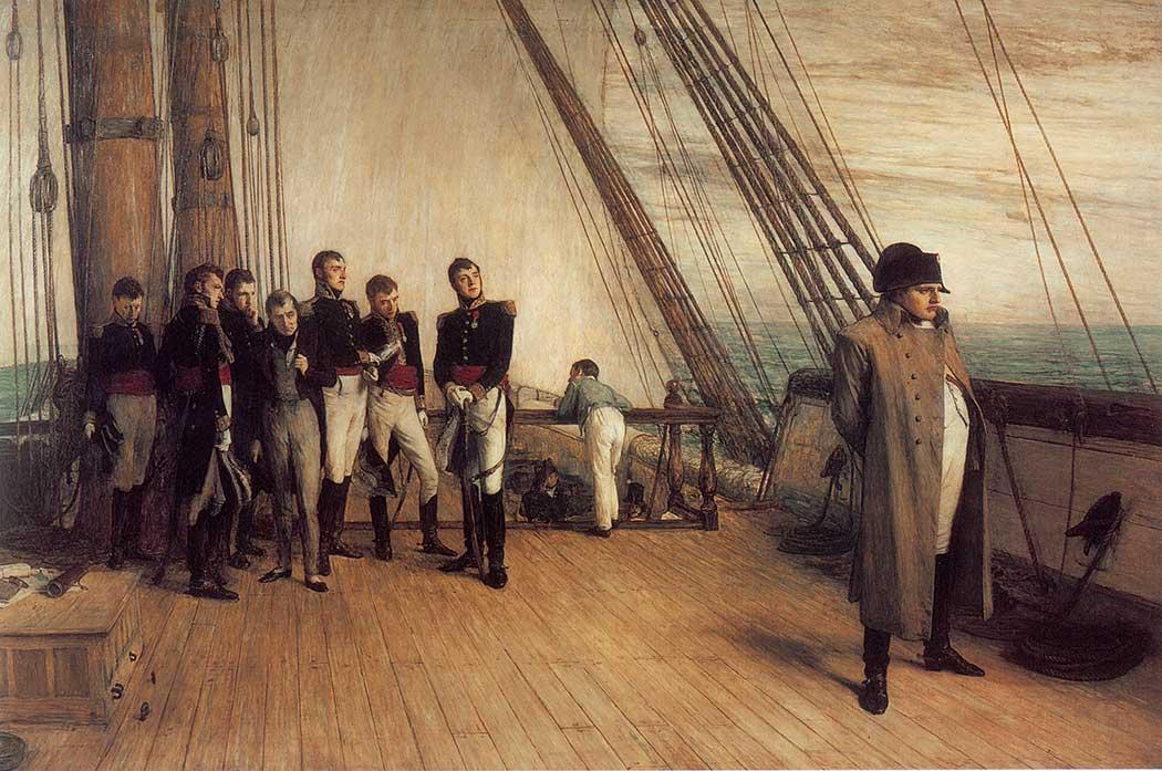 Sir William Quiller Orchardson Bellerophon'un Güvertesinde