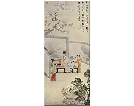 Tang Yin Şair ve Hizmetlileri