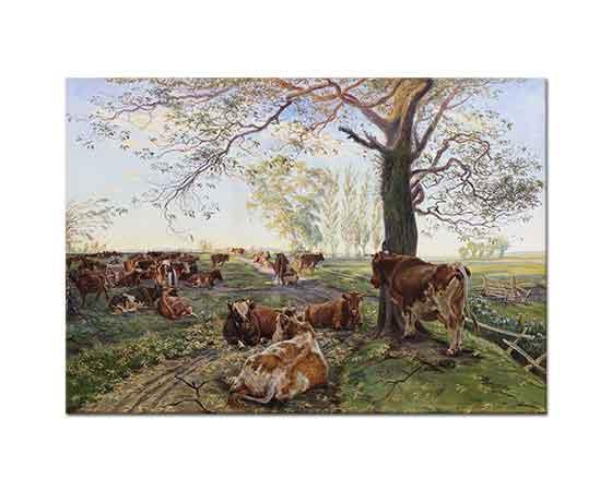 Theodor Esbern Philipsen Dyrehavegard'da Süt Sağımı