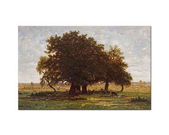 Theodore Rousseau Ağaçlı Manzara