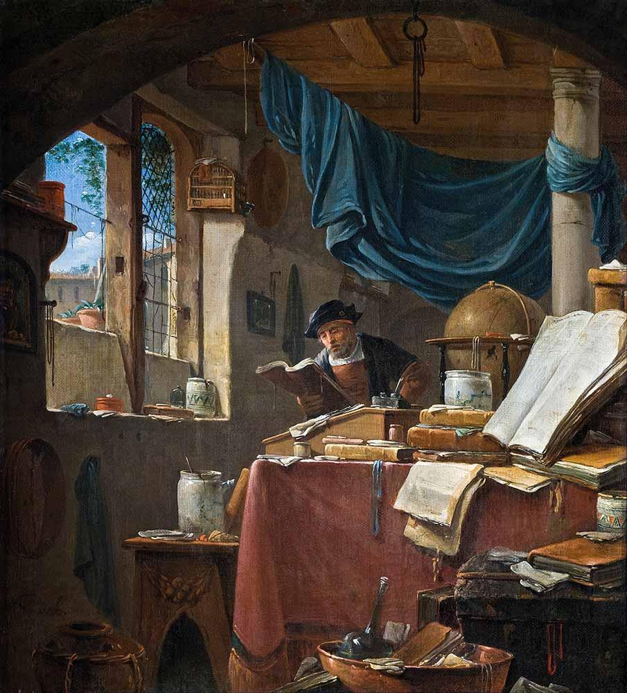 Thomas Wyck Atölyede Çalışırken