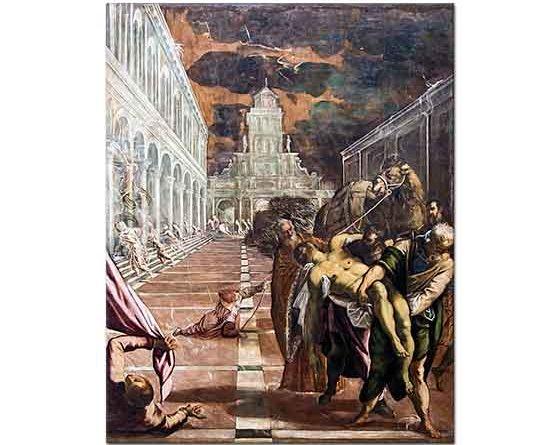 Tintoretto Aziz Markus Venedik'e Getirilirken