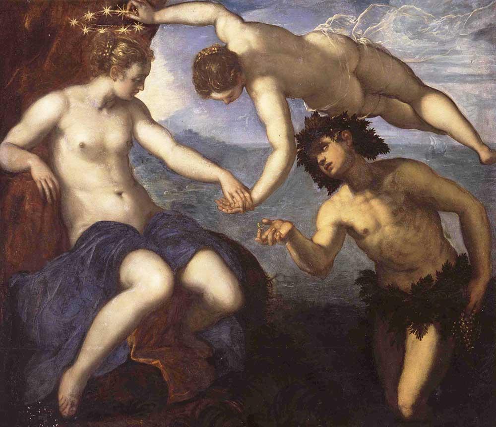 Tintoretto Baküs ve Ariadne