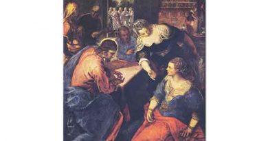Tintoretto Madonna İsa ve Martha ile