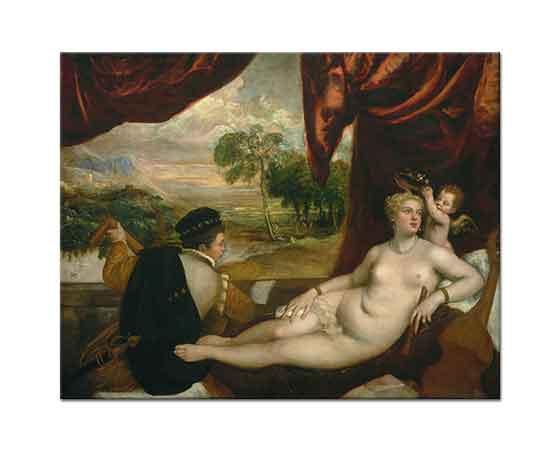 Tiziano Vecellio Venüs ve Müzisyen