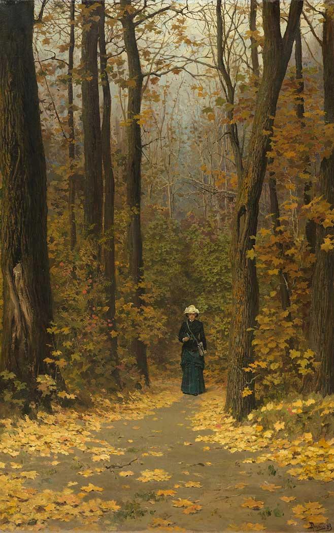 Vasily Polenov Ormanda Yürüyüş