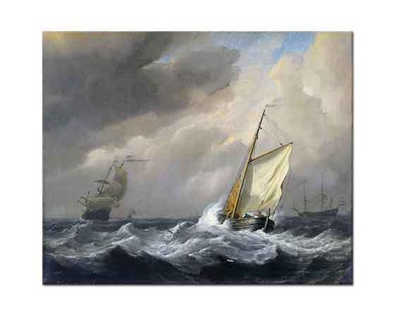 Willem van de Velde Küçük Tekne Fırtınada