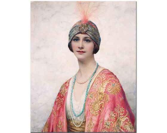 William Clarke Wontner Doğu Kıyafetli Kadın