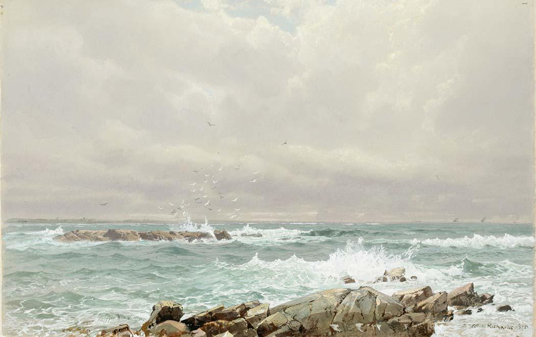William Trost Richards Çalkantılı Deniz