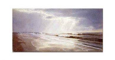 William Trost Richards Güneş Işığı Süzülen Sahil