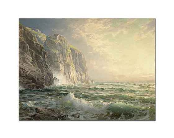 William Trost Richards Kayalar ve Fırtınalı Deniz