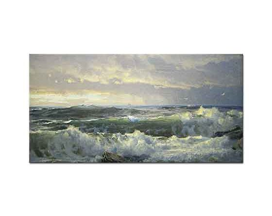 William Trost Richards Kayalarda Surf