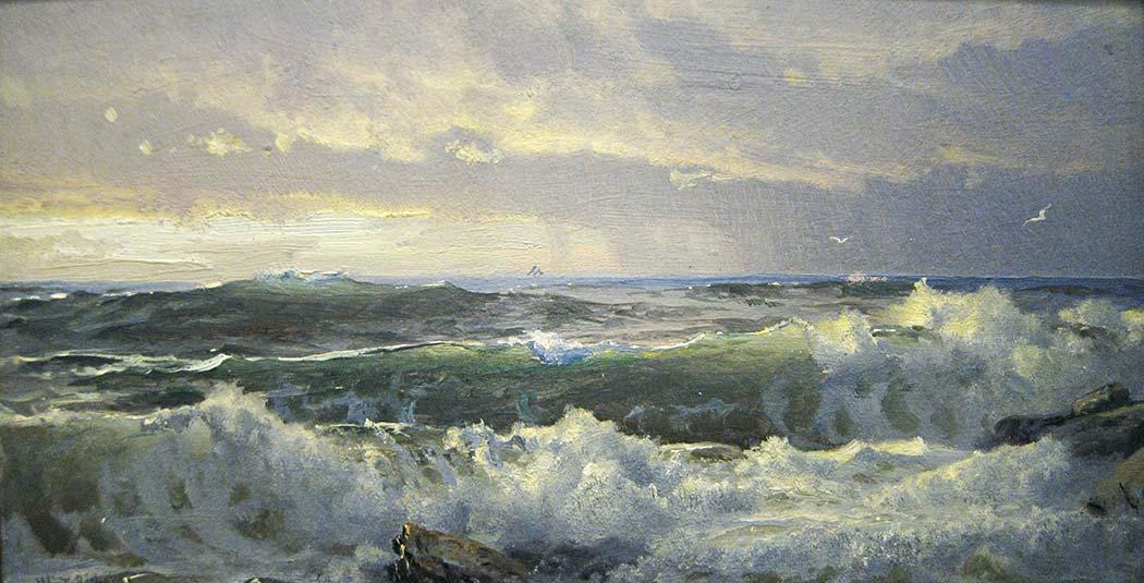 William Trost Richards Kayalarda Surf