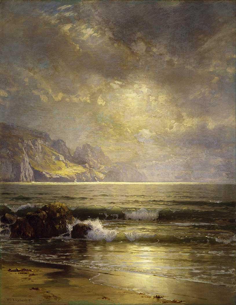 William Trost Richards Kıyıdaki Dalgalar