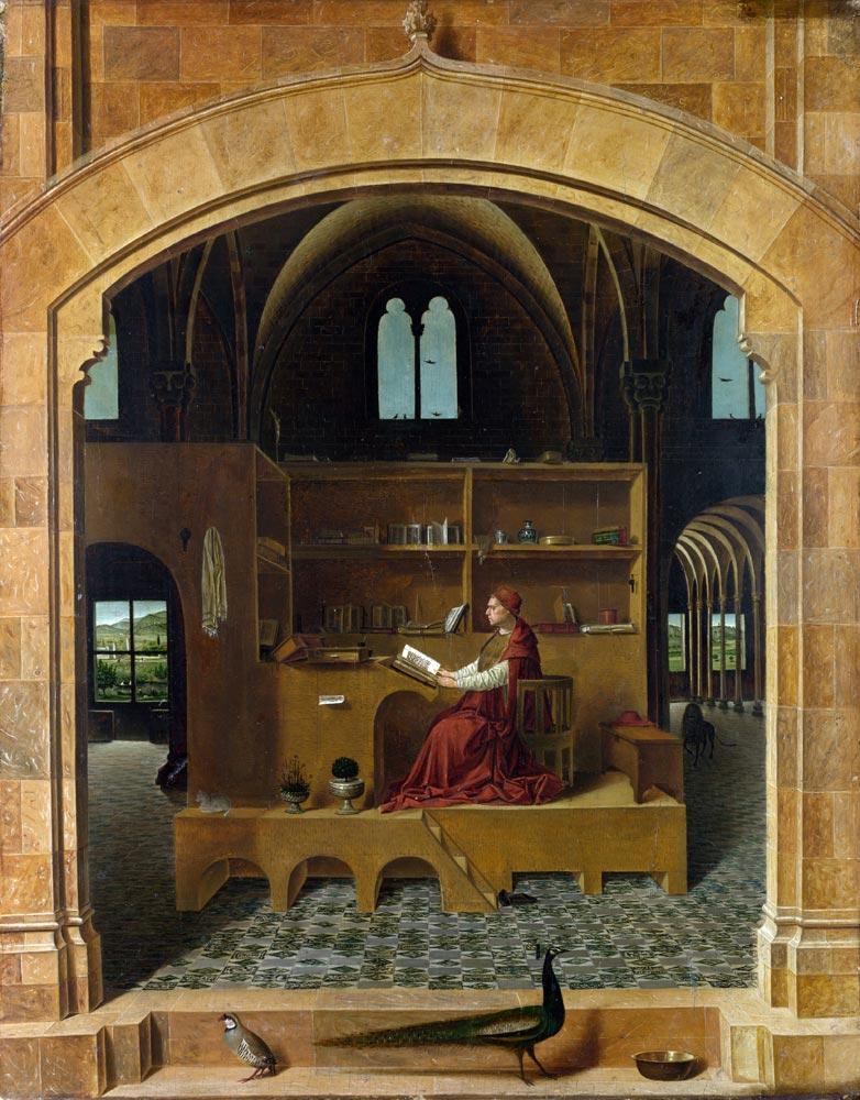 Resim 03, Antonella da Messina, Saint Hieronymus Çalışma Odasında, 1475