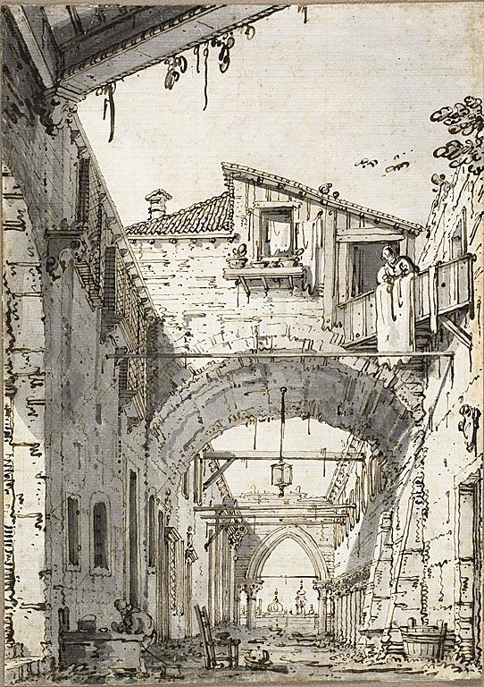 Resim 05, Antonio Canaletto, Harab bir Evin Avlusu, 1760