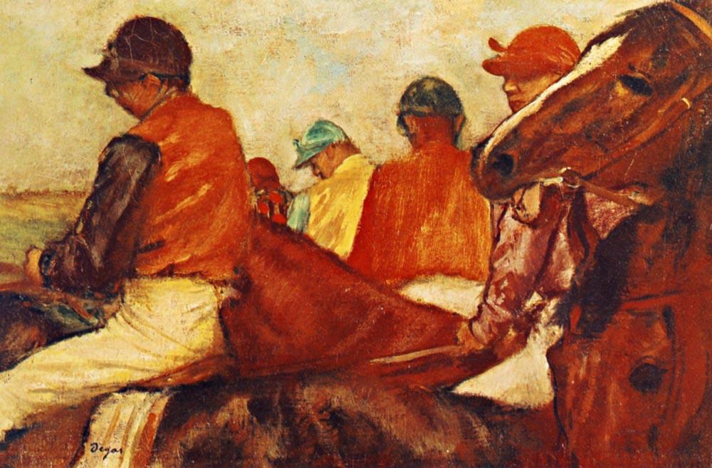 Edgar Degas, Jokeyler, 1885