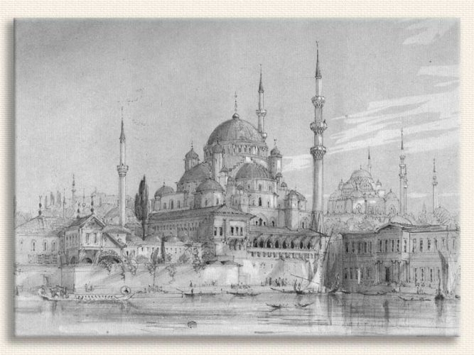 Gaspar Fossati Yeni Cami tablosu