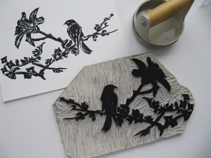 Linolyum Ağaç Baskı