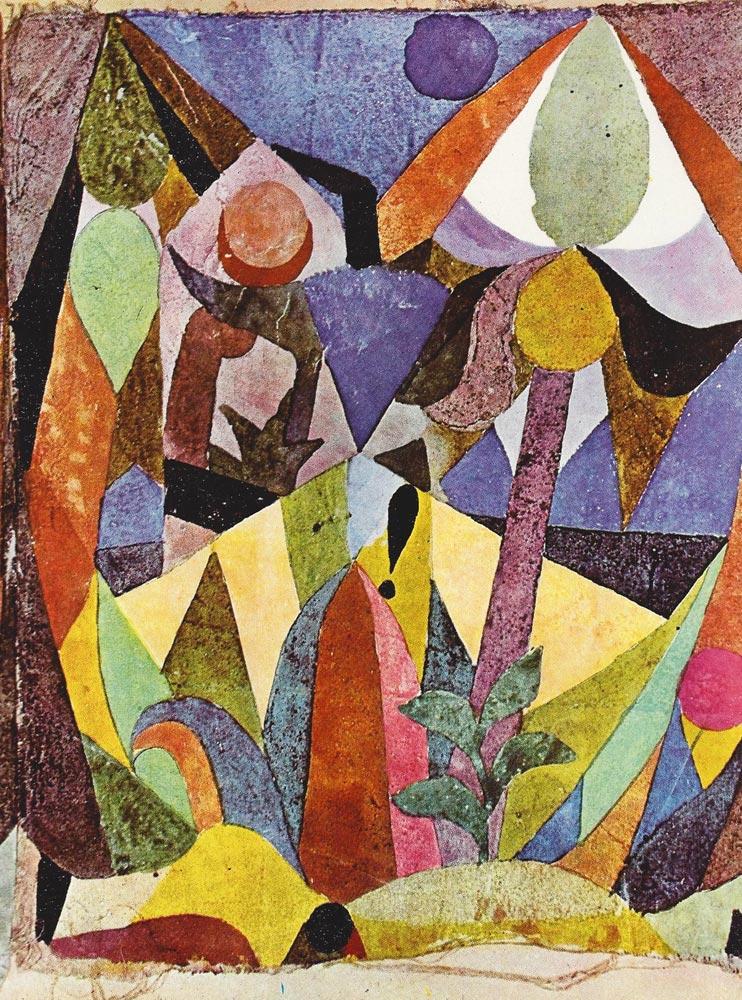 Paul Klee, Aşağı Tropik Manzarası, 1918