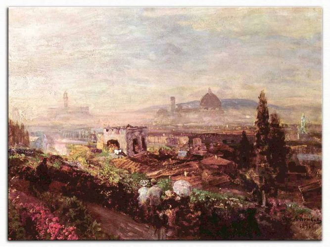 Oswald Achenbach Florenz Manzarası