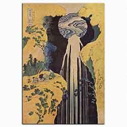 Katsushika Hokusai, Amida şelalesi, 1827