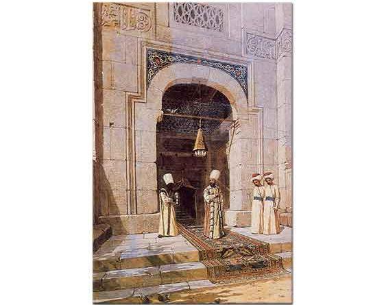 Osman Hamdi Camiden Çıkan Sultan