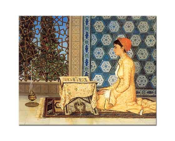 Osman Hamdi, Kuran Okuyan Kız