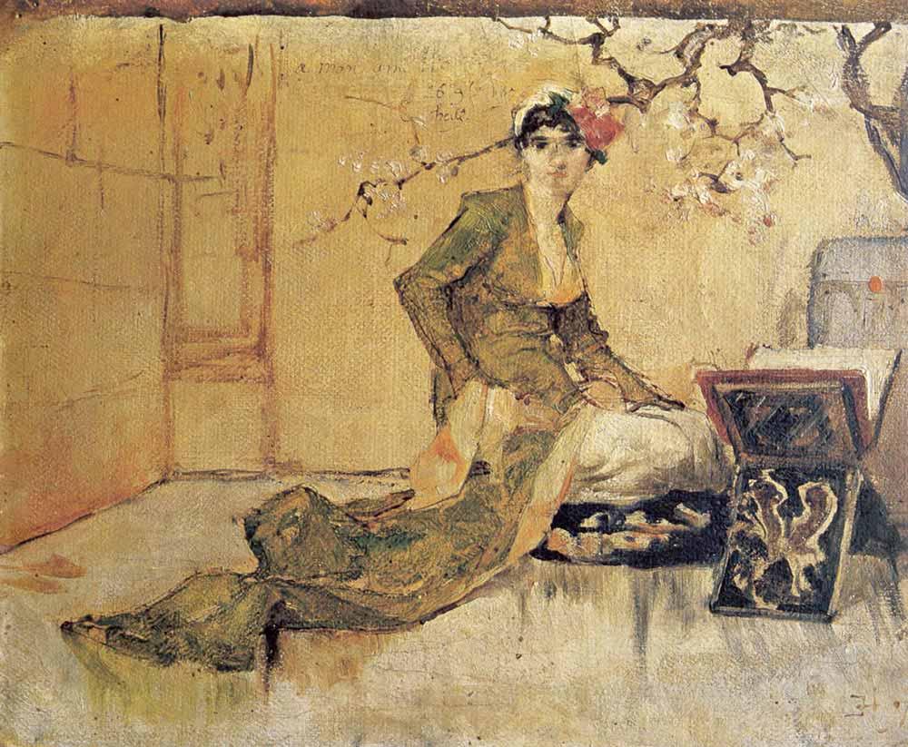 Osman Hamdi Rahle Önünde Genç Kadın