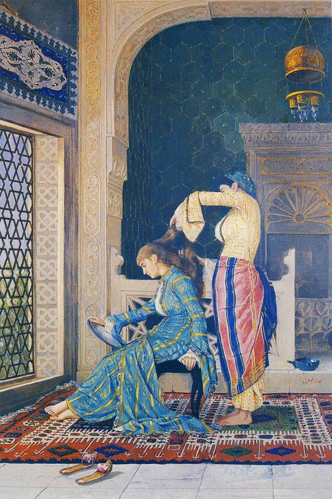Osman Hamdi Saçlarını Taratan Kız
