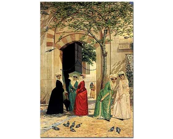 Osman Hamdi Sultanahmet Camii Önünde Kadınlar
