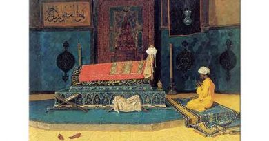Osman Hamdi Yeşil Türbede Dua