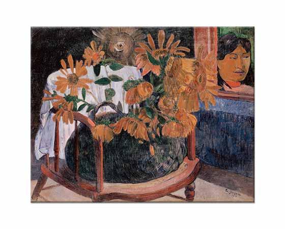 Paul Gauguin Ayçiçekli Natürmort