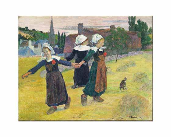 Paul Gauguin Bretonlu Kızlar Dansta