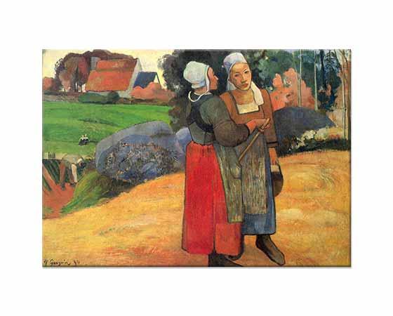 Paul Gauguin Bretonlu Köylü Kadınlar