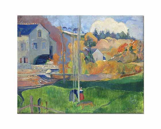 Paul Gauguin Değirmen ve Brittany Manzarası