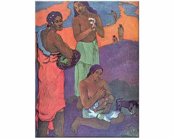 Paul Gauguin Deniz Kıyısında Annelik