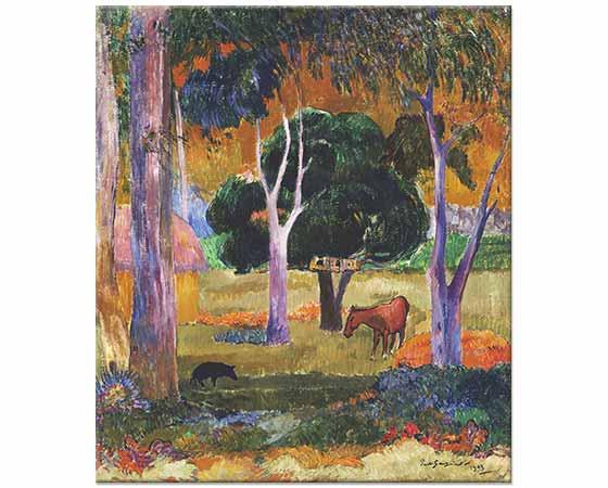 Paul Gauguin Dominikte Manzara